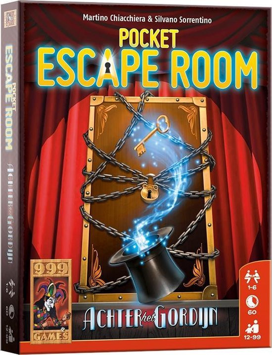 Pocket Escape Room Achter het Gordijn Box.