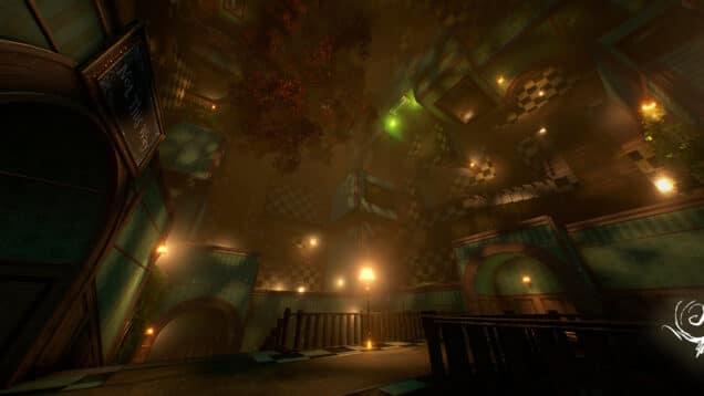 Alice Virtual Reality Escape Room Upside down
