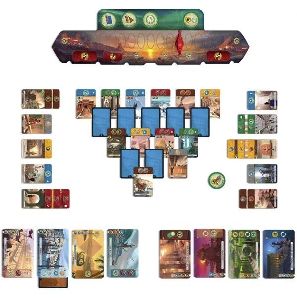 7 Wonders Duel Board