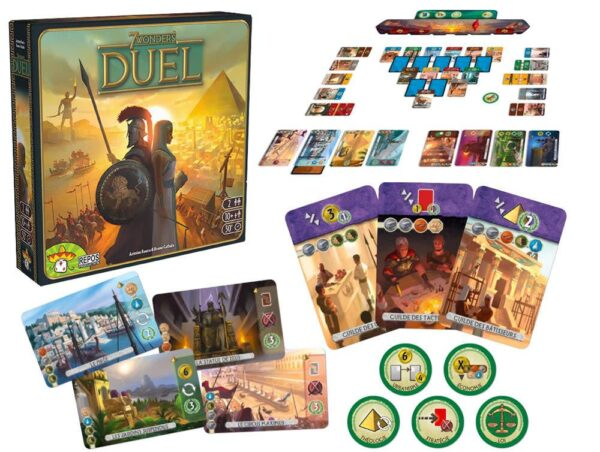 7 Wonders Duel Components
