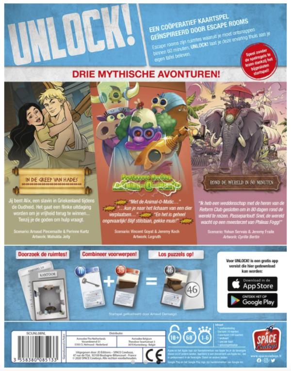 Unlock! Mythische Avonturen Back